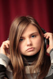 Young woman with headphones Royalty Free Stock Photo