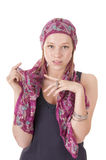 Young woman in headscarf royalty free stock photo