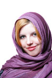Young woman with headscarf Royalty Free Stock Images