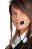 Young woman in headset Stock Photos