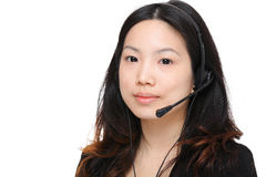 Young woman with headset Stock Photography