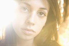 Young woman headshot Stock Images