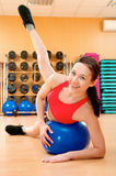 Young woman in a health club Stock Photos