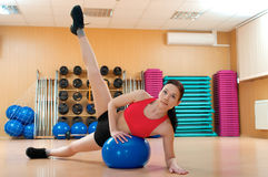 Young woman in a health club Royalty Free Stock Images