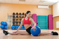 Young woman in a health club Royalty Free Stock Photo