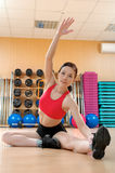 Young woman in a health club Stock Photography