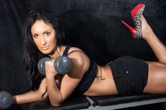 Young woman in a health club Stock Image