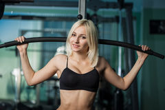 Young woman in health club Royalty Free Stock Photography