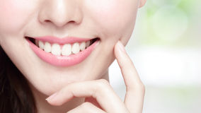 Young woman health teeth Royalty Free Stock Photos