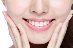 Young woman health teeth Stock Photos