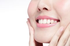 Young woman health teeth Royalty Free Stock Images