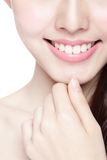 Young woman health teeth Stock Images