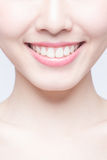 Young woman health teeth Royalty Free Stock Image