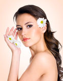 Young woman with healthy clean skin of face Royalty Free Stock Photo
