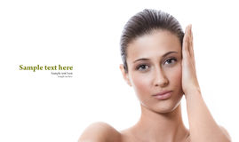 Young woman with healthy fresh skin Stock Photo