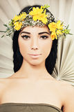 Young woman with healthy skin. Young woman with fashionable makeup, healthy skin and hair Royalty Free Stock Photos