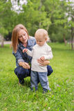 Young Woman with her Baby Son Royalty Free Stock Photo