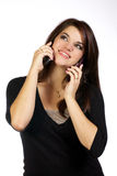 Young woman on her cell phone Royalty Free Stock Image