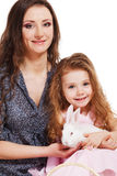 Young woman and her daughter Royalty Free Stock Images