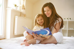 Young woman with her daughter. Stock Photo