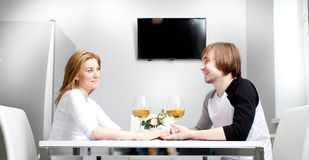 Young woman and her husband Stock Photos