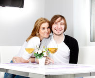 Young woman and her husband Stock Photo