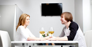 Young woman and her husband Stock Images