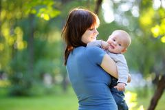 Young woman with her little baby boy Royalty Free Stock Photography