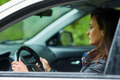 Young woman and her new car Royalty Free Stock Image