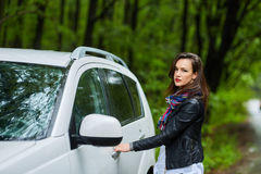 Young woman and her new car Royalty Free Stock Photos