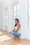 Young woman in her new home Stock Photos