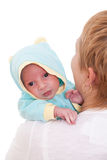 Young woman with her newborn baby Stock Photos