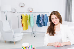Young woman and her own business Stock Photos