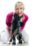 Young woman with her puppy Stock Photography