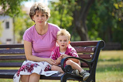 Young woman and her son outdoors Stock Photography
