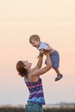 Young woman and her son Royalty Free Stock Images