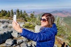 Young Woman Hiker Taking a Selfie Royalty Free Stock Photo