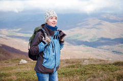 Young woman hiking Royalty Free Stock Photos