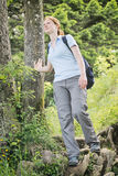 Young Woman Hiking in Summer Stock Images