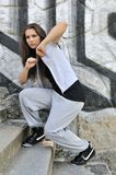 Young woman in hip hop style dance Royalty Free Stock Photography