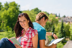 Young woman hold map visit tourist destination Royalty Free Stock Photography