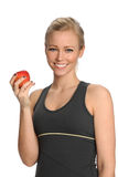 Young Woman Holding Apple Stock Images