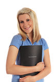 Young woman holding an application file Stock Photography