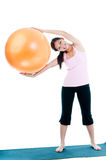 Young Woman Holding Balance Ball Royalty Free Stock Photo