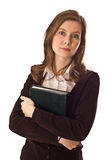 Young woman holding a book. Stock Photo