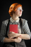 Young Woman Holding Book Stock Photography