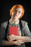 Young Woman Holding Book Royalty Free Stock Photos