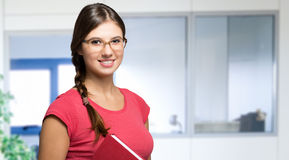 Young woman holding a book Royalty Free Stock Images
