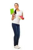 Young woman holding books Stock Photos