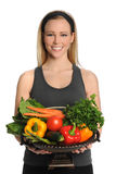 Young Woman Holding Bowl With Produce Royalty Free Stock Photography